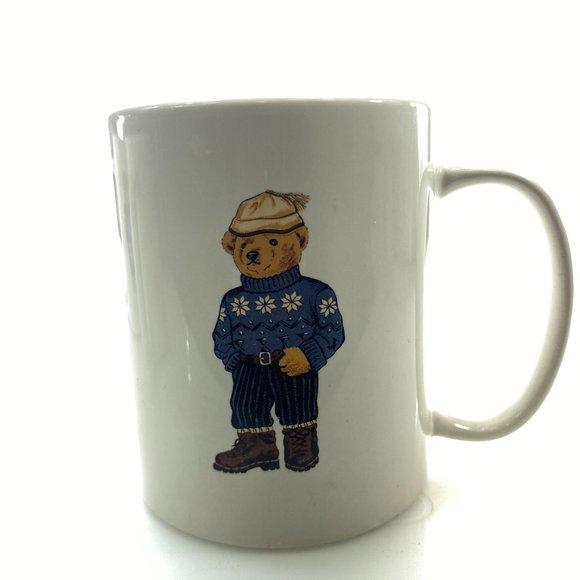 POLO RALPH LAUREN Vintage Mug 90's Alpine Bear